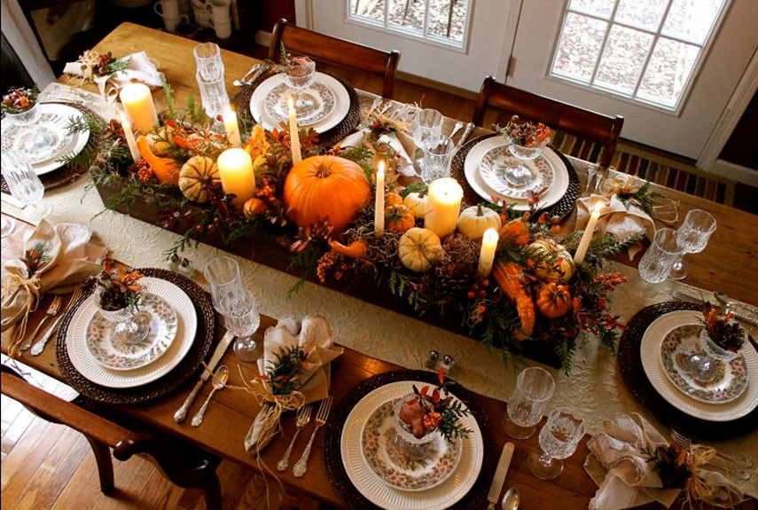 Thanksgiving Table Settings  23 Insanely Beautiful Thanksgiving Centerpieces and Table