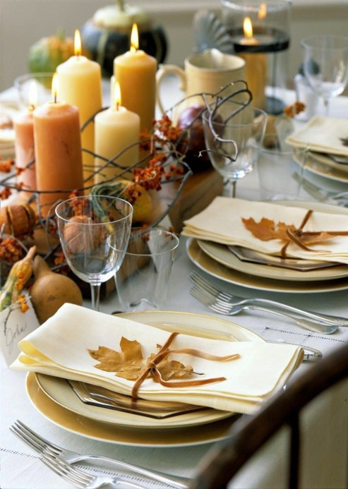 Thanksgiving Table Settings  34 Natural Thanksgiving Table Settings DigsDigs