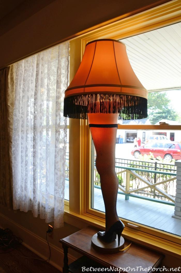 The Christmas Story Leg Lamp  A Christmas Story Movie House Living Room Cleveland Ohio