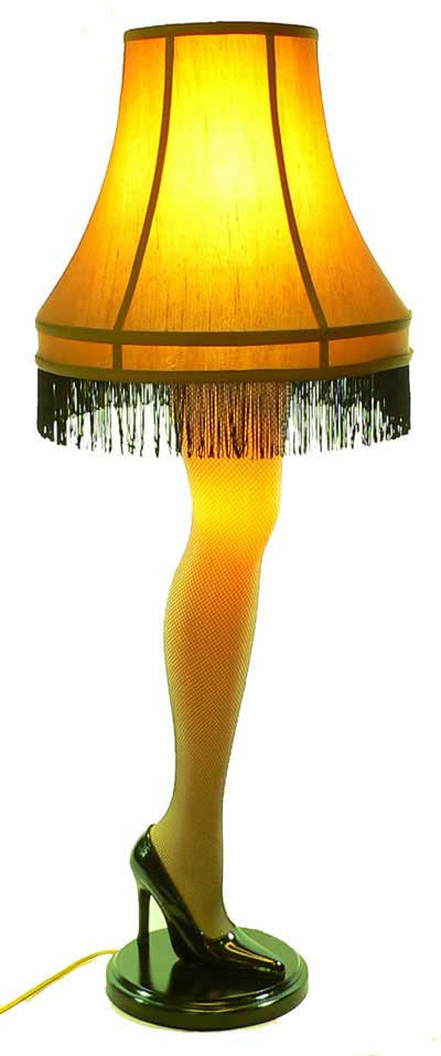 The Christmas Story Leg Lamp  The Leg Lamp
