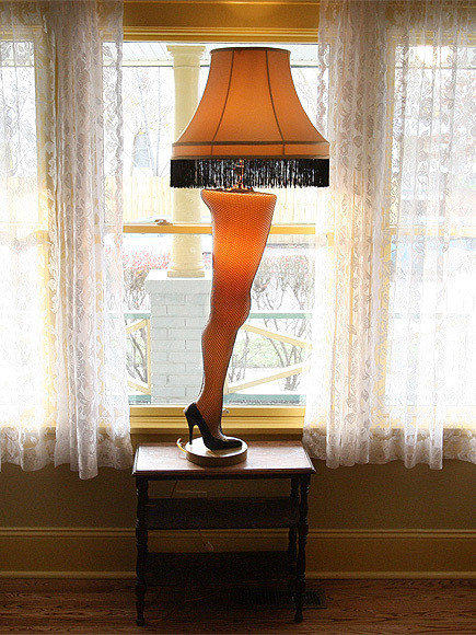 The Christmas Story Leg Lamp  A Christmas Story Leg Lamp Stolen From Store