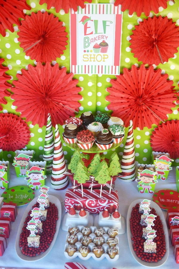 Toddler Christmas Party Ideas  An Elf Cookie Decorating Holiday Kids Party Party Ideas