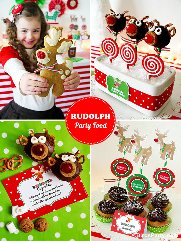 Toddler Christmas Party Ideas  Rudolph Holiday Party