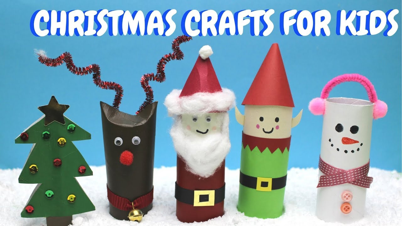 Toilet Paper Christmas Crafts  Christmas Crafts for Kids