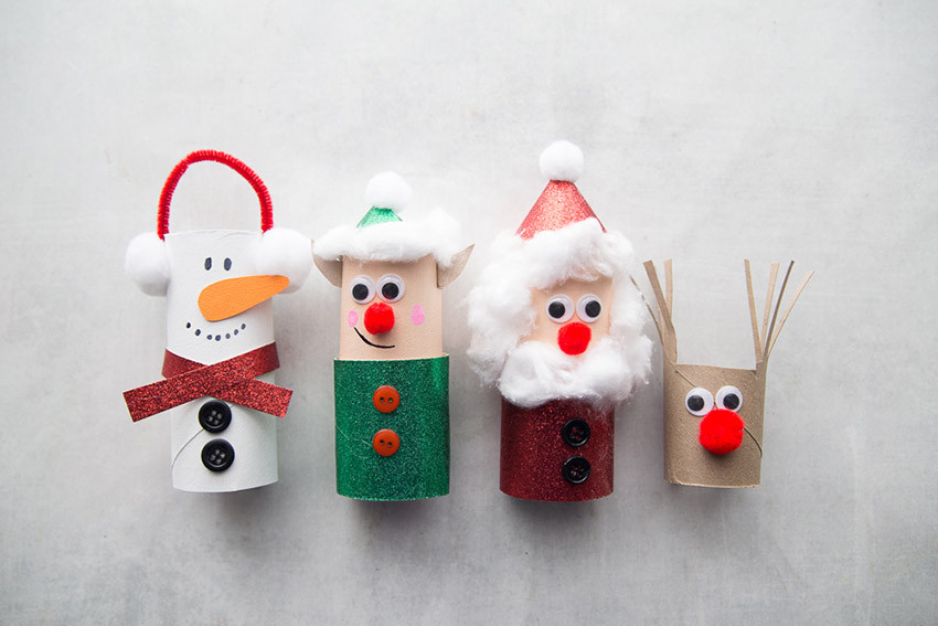 Toilet Paper Christmas Crafts  Christmas Toilet Paper Roll Crafts The Best Ideas for Kids