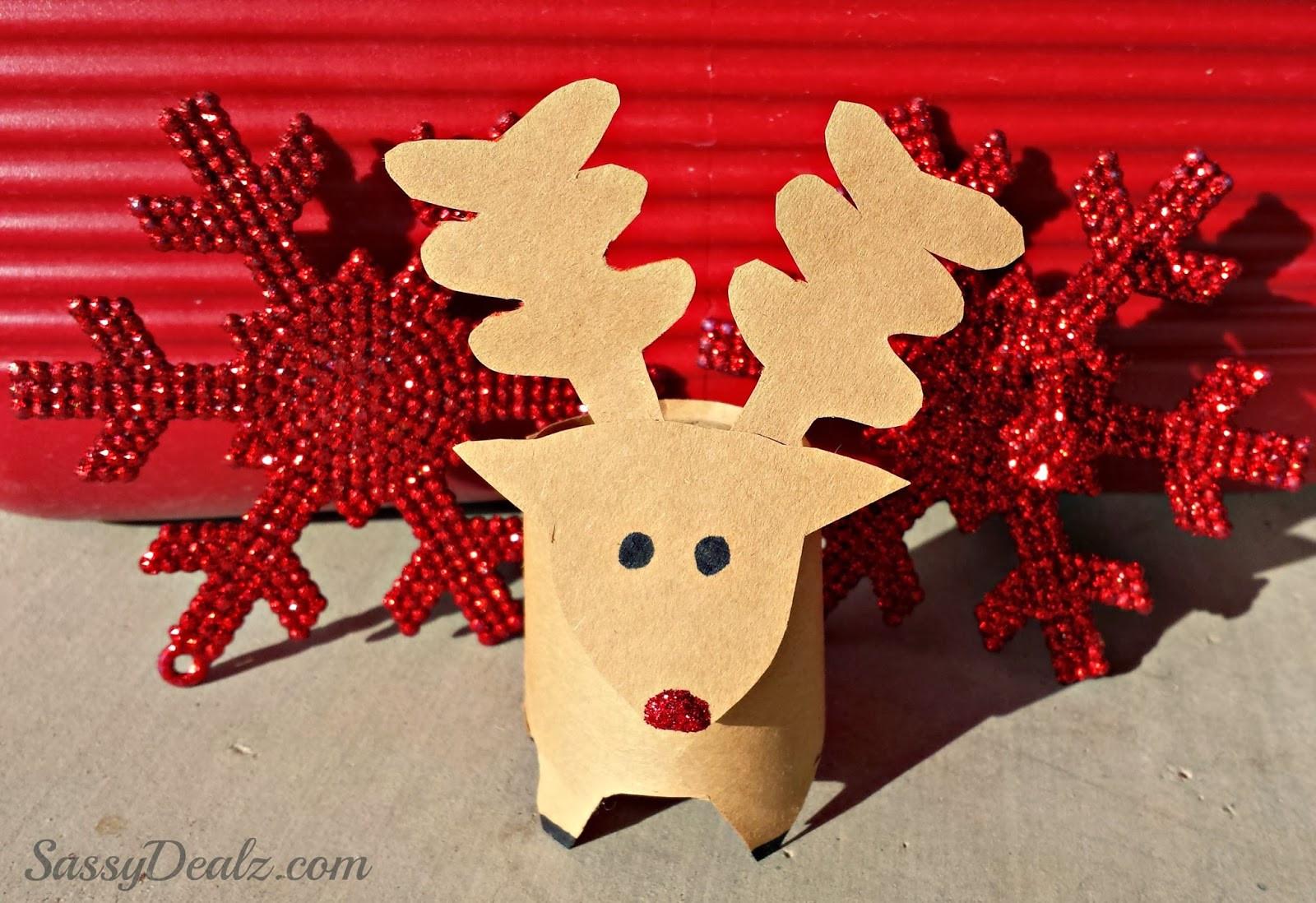 Toilet Paper Christmas Crafts  Mini Reindeer Toilet Paper Roll Christmas Craft For Kids