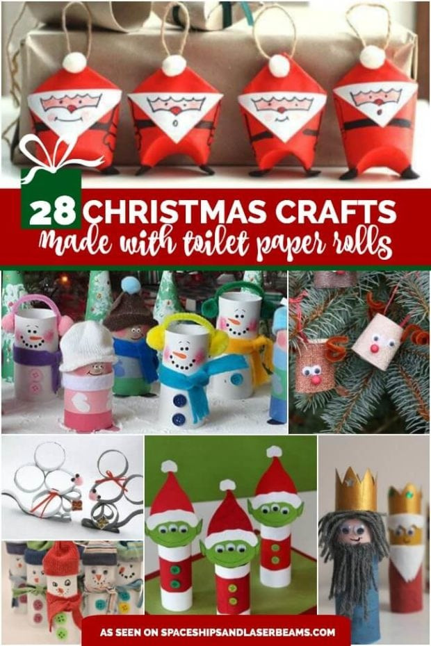 Toilet Paper Christmas Crafts  28 Christmas Crafts Made From Toilet Paper Rolls