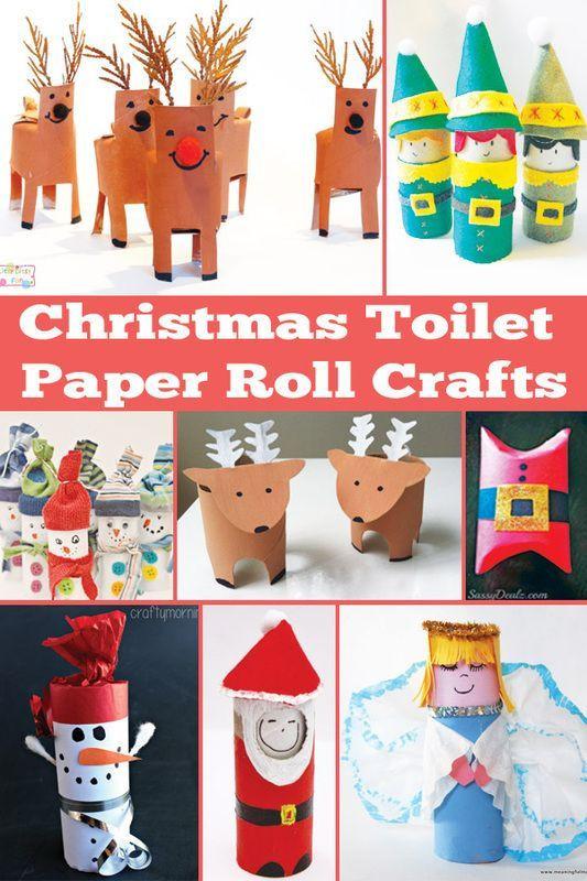 Toilet Paper Christmas Crafts  Roličky toaletnho papru and Toalety on Pinterest