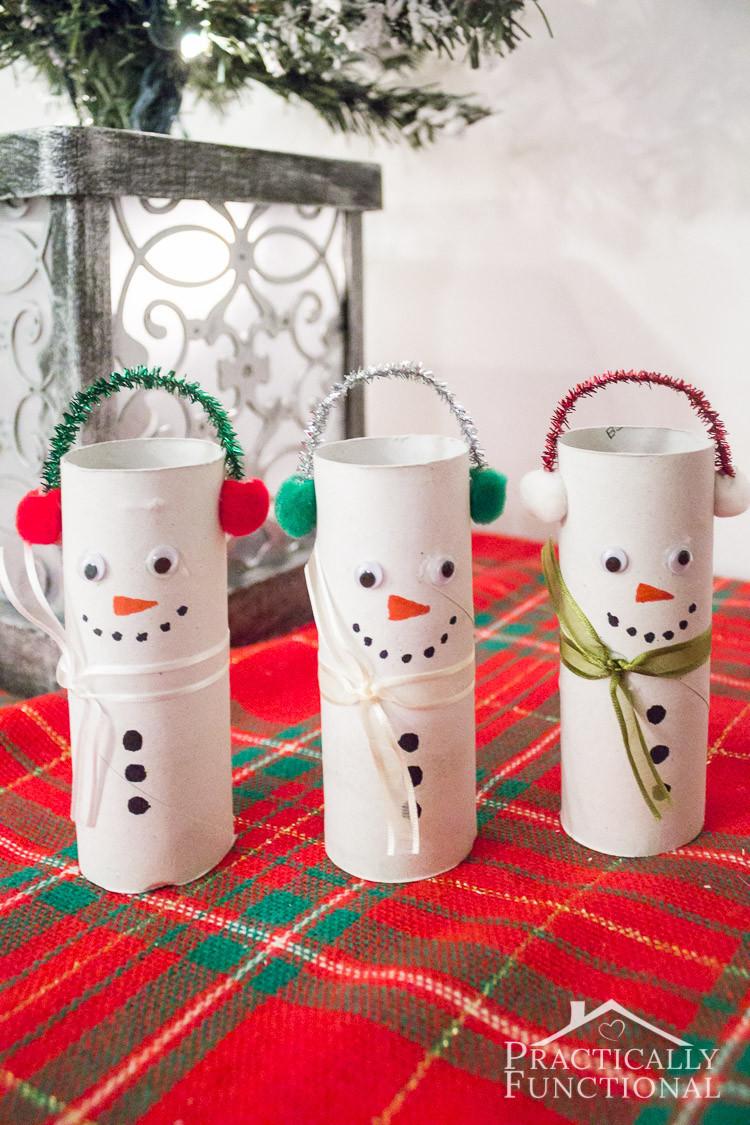 Toilet Paper Christmas Crafts  DIY Toilet Paper Roll Snowmen