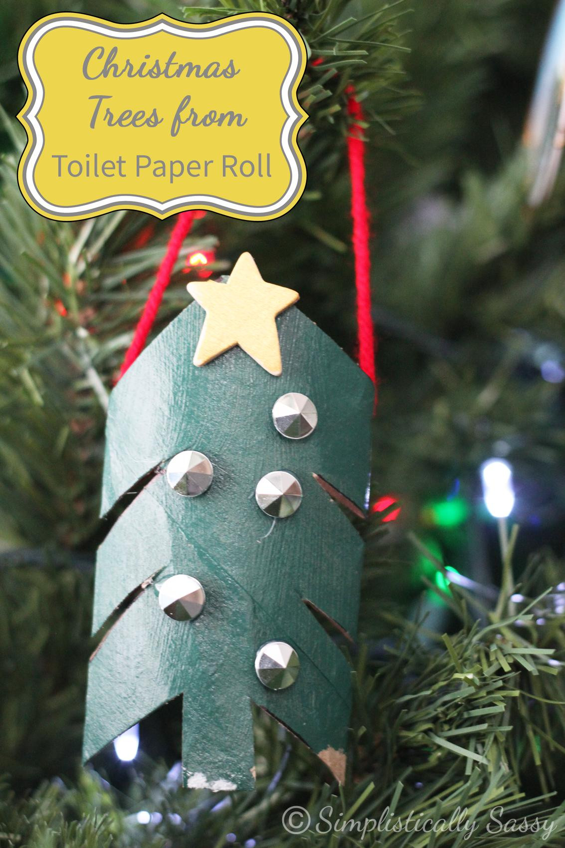 Toilet Paper Christmas Crafts  Toilet Paper Rolls Archives Simplistically Sassy