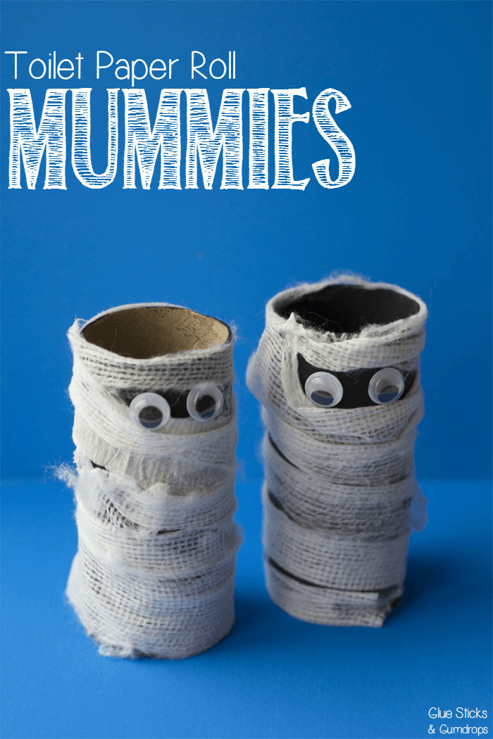 Toilet Paper Roll Crafts Halloween  Toilet Paper Roll Mummy Craft for Halloween