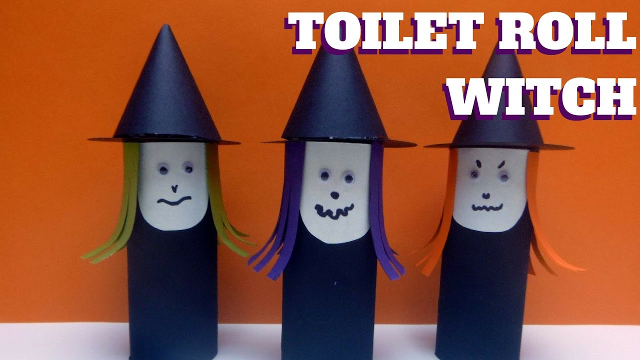 Toilet Paper Roll Crafts Halloween  Halloween Craft Toilet Paper Roll Witch Toilet Paper