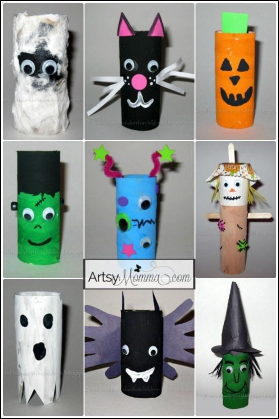 Toilet Paper Roll Crafts Halloween  16 Toilet Paper Tube Halloween Characters 24 Easy