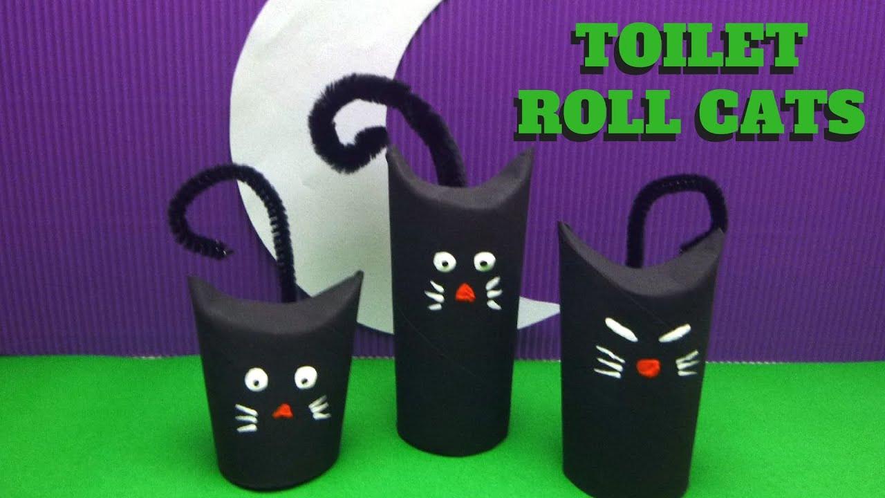 Toilet Paper Roll Crafts Halloween  Halloween Craft Toilet Paper Roll Cat Toilet Paper