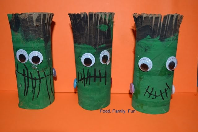 Toilet Paper Roll Crafts Halloween  Food Family Fun Frankenstein Toilet Paper Roll Craft