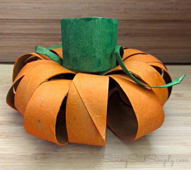 Toilet Paper Roll Crafts Halloween  Halloween Kids Craft Toilet Paper Roll Pumpkin Raising