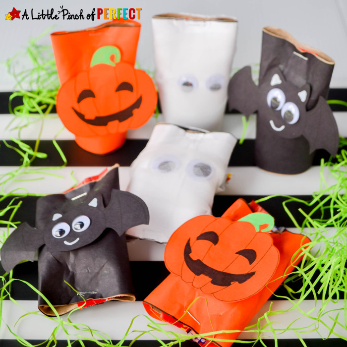 Toilet Paper Roll Crafts Halloween  Cardboard Tube Craft Halloween Candy Holders and Free
