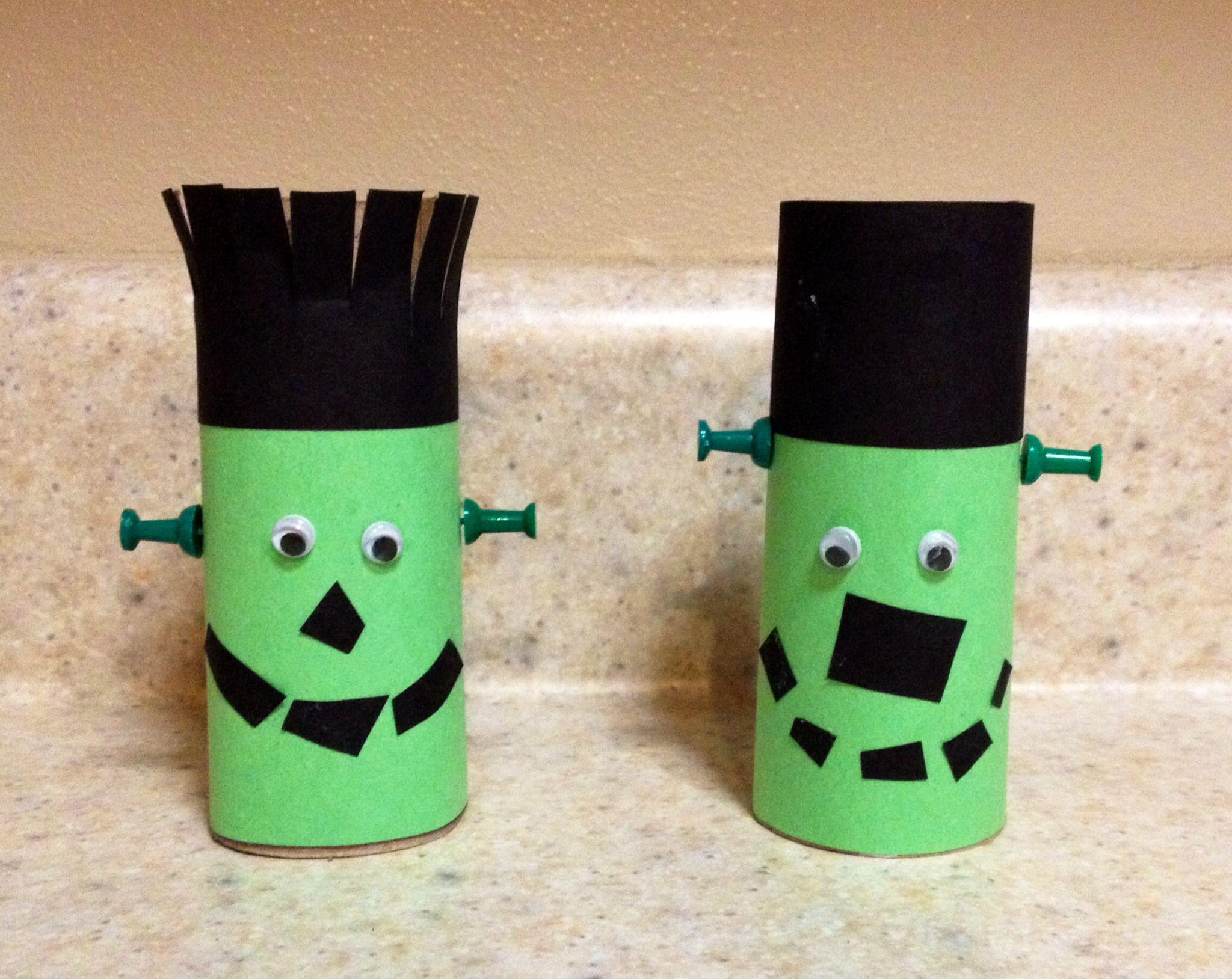 Toilet Paper Roll Crafts Halloween  Preschool Halloween Craft Toilet Paper Roll Frankenstein