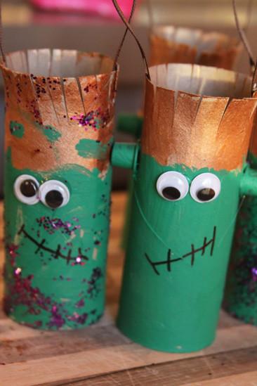 Toilet Paper Roll Crafts Halloween  Toilet paper Roll Craft – Kids Halloween Frankenstein