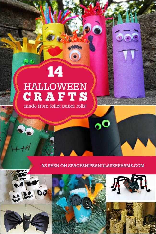 Toilet Paper Roll Halloween Craft  14 Halloween Kids Crafts Made from Toilet Paper Rolls