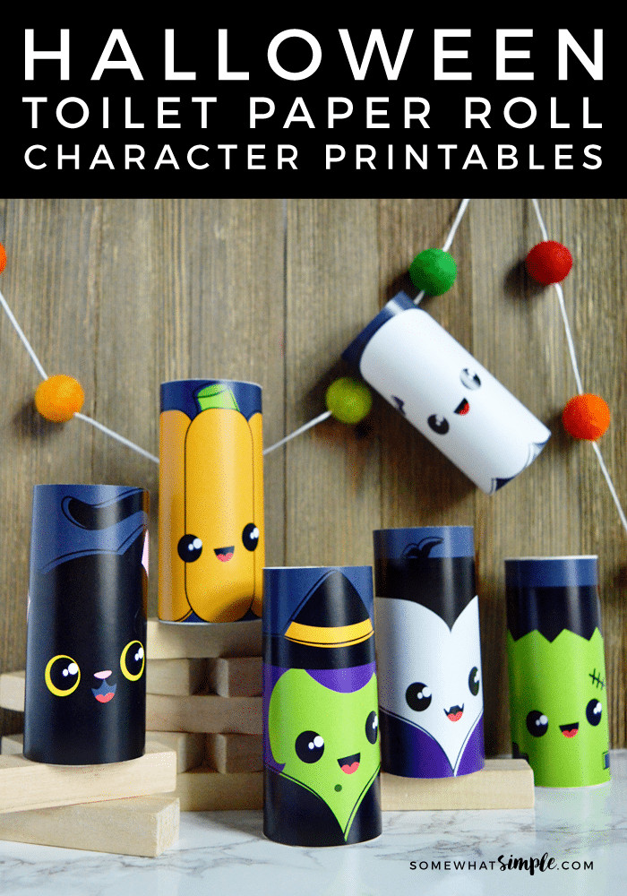 Toilet Paper Roll Halloween Craft  Toilet Paper Roll Crafts Halloween Characters Somewhat