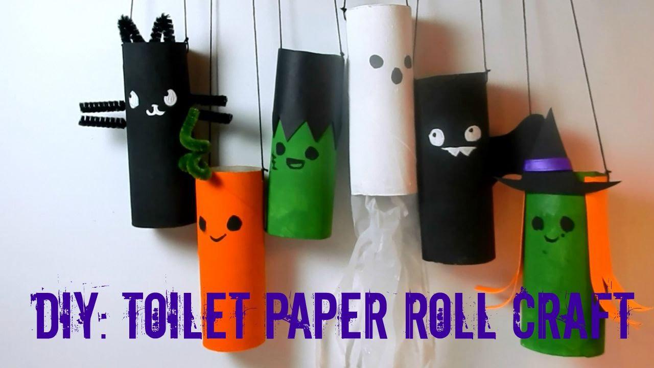 Toilet Paper Roll Halloween Craft  DIY Halloween Toilet Paper Roll Craft Recycle