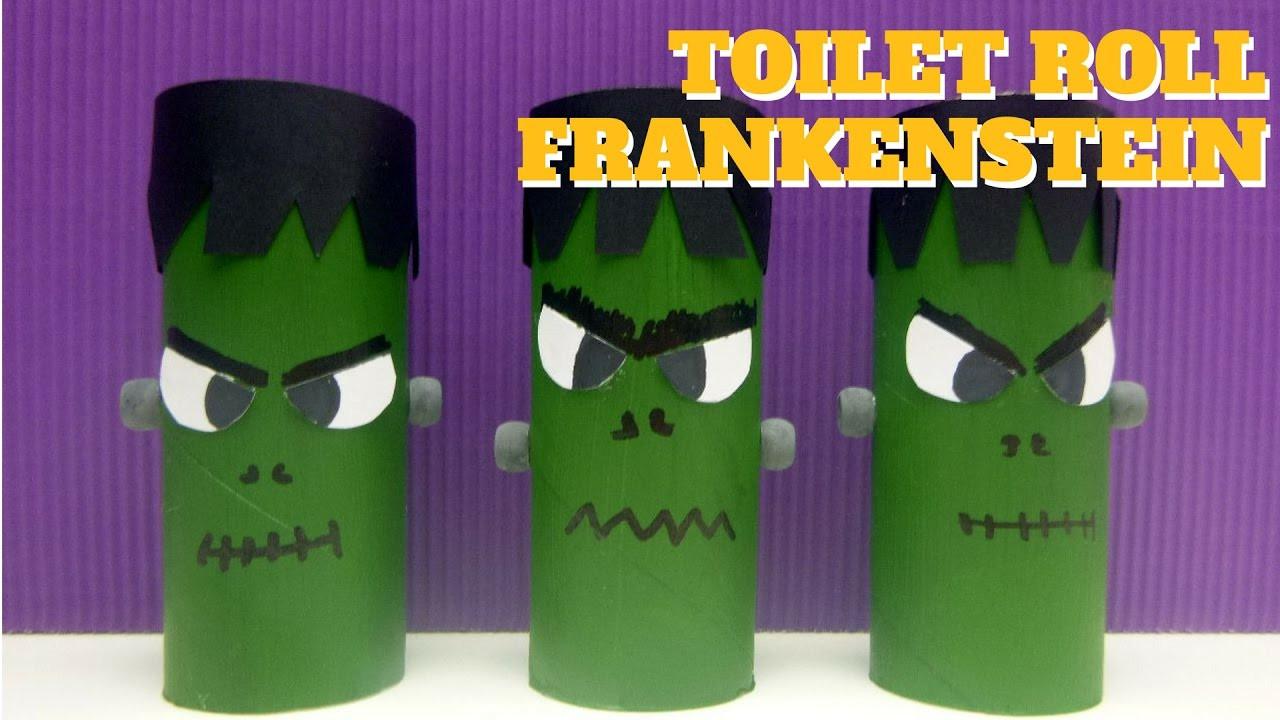 Toilet Paper Roll Halloween Craft  Halloween Crafts Toilet Paper Roll Frankenstein Toilet