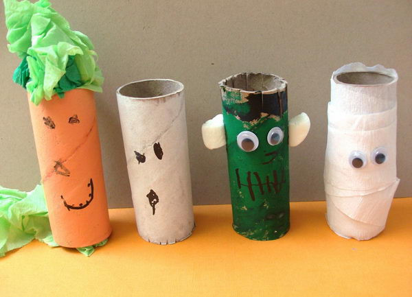 Toilet Paper Roll Halloween Craft  150 Homemade Toilet Paper Roll Crafts Hative