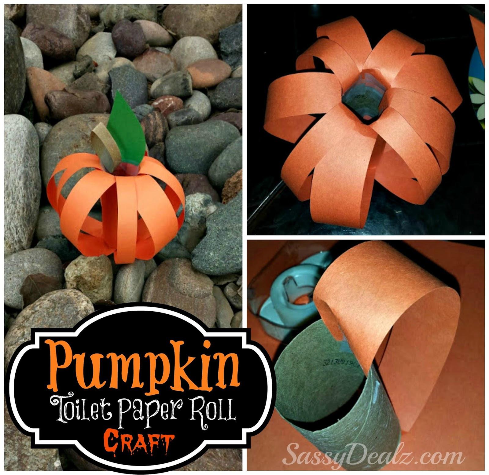Toilet Paper Roll Halloween Craft  Pumpkin Toilet Paper Roll Craft For Kids Halloween Idea