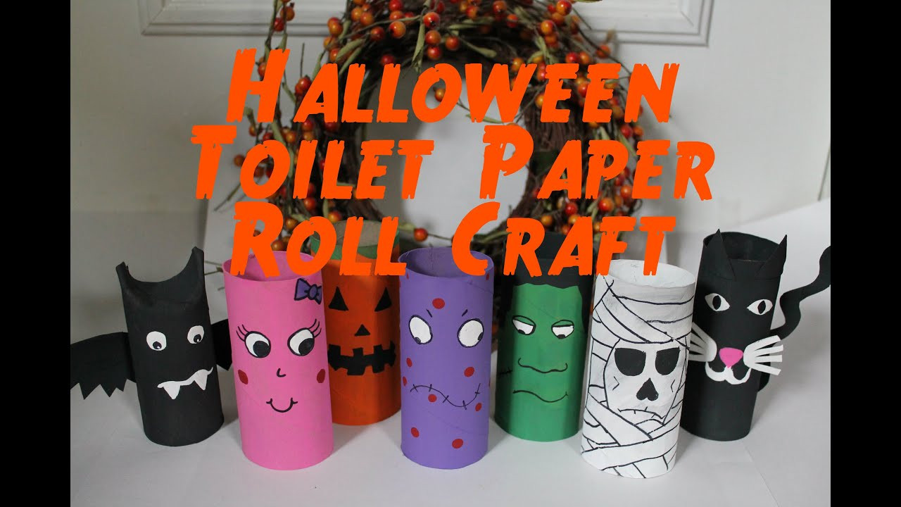 Toilet Paper Roll Halloween Craft  DIY Halloween Decorations Recycled Toilet Paper Roll