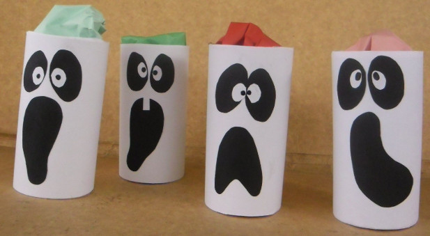 Toilet Paper Roll Halloween Craft  Halloween crafts for kids 19 upcycled toilet paper rolls