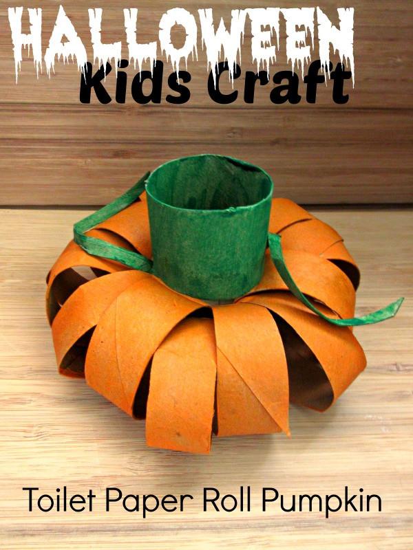Toilet Paper Roll Halloween Craft  Halloween Kids Craft Toilet Paper Roll Pumpkin Raising