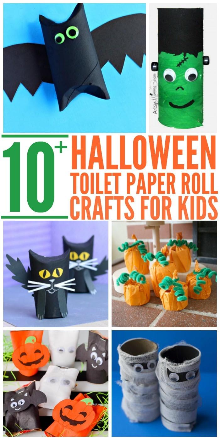 Toilet Paper Roll Halloween Craft  10 Easy Halloween Toilet Paper Roll Crafts Glue Sticks