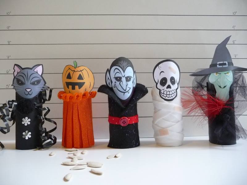 Toilet Paper Roll Halloween Craft  toilet paper roll craft