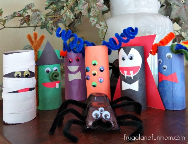 Toilet Paper Roll Halloween Craft  Tutorial TP Roll Monsters An Easy Halloween Craft With