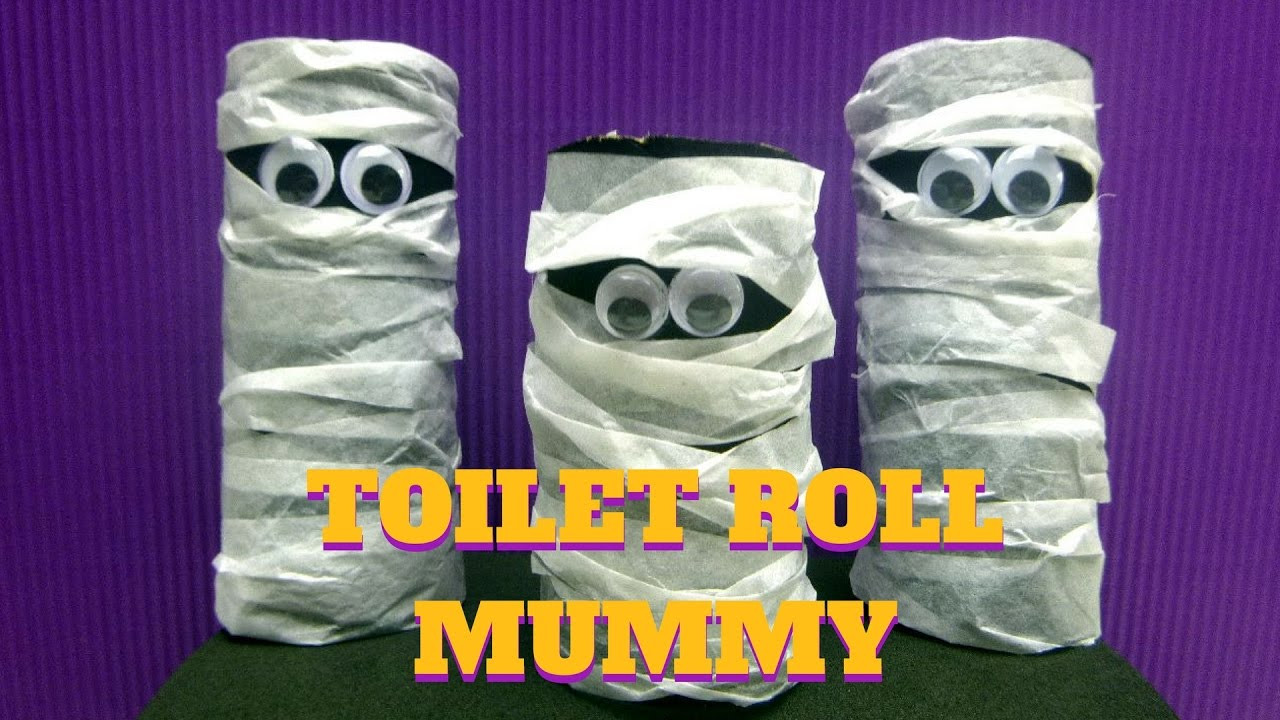 Toilet Paper Roll Halloween Craft  Halloween Craft Toilet Paper Roll Mummy Toilet Paper