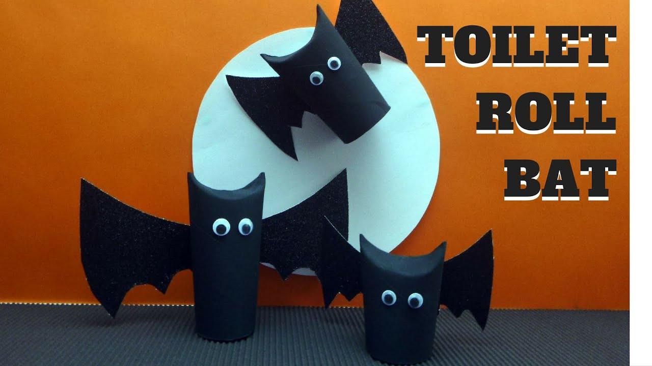 Toilet Paper Roll Halloween Craft  Halloween Crafts Toilet Paper Roll Bat Toilet Paper
