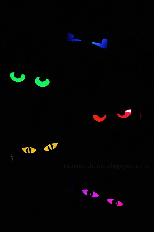 Toilet Paper Roll Halloween Eyes  Rust & Sunshine Glowing Eyes