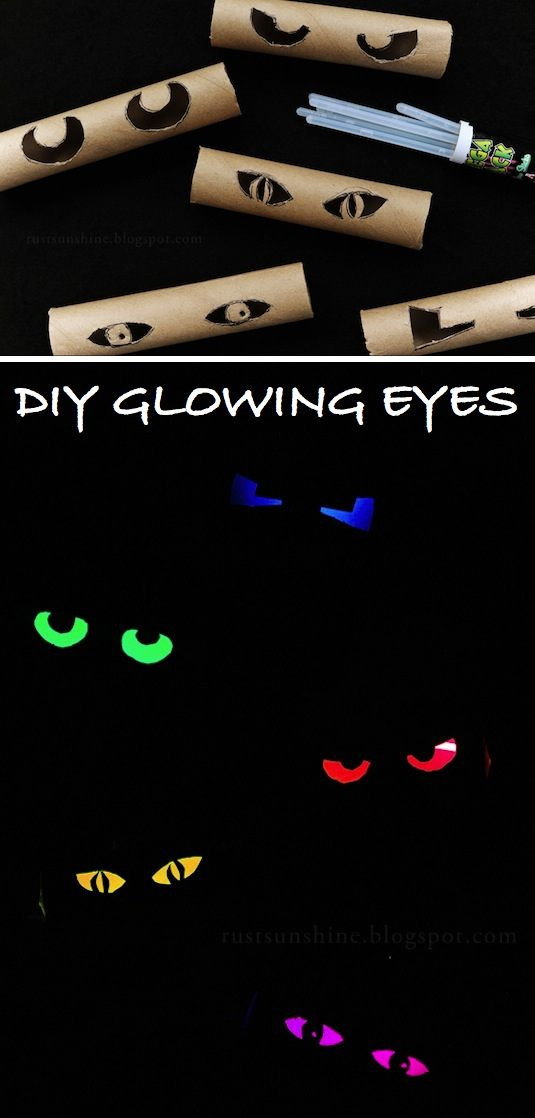 Toilet Paper Roll Halloween Eyes  51 Cheap & Easy To Make DIY Halloween Decorations Ideas