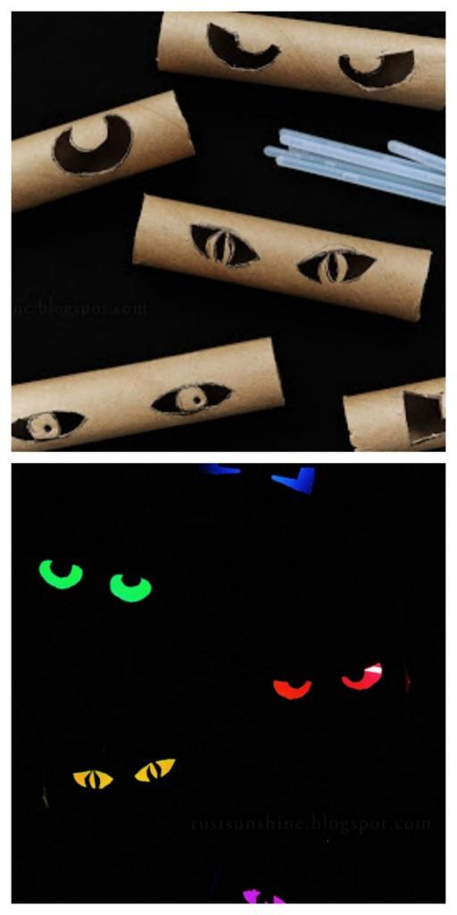 Toilet Paper Roll Halloween Eyes  DIY dorm room decorating ideas for Halloween – DU Clarion