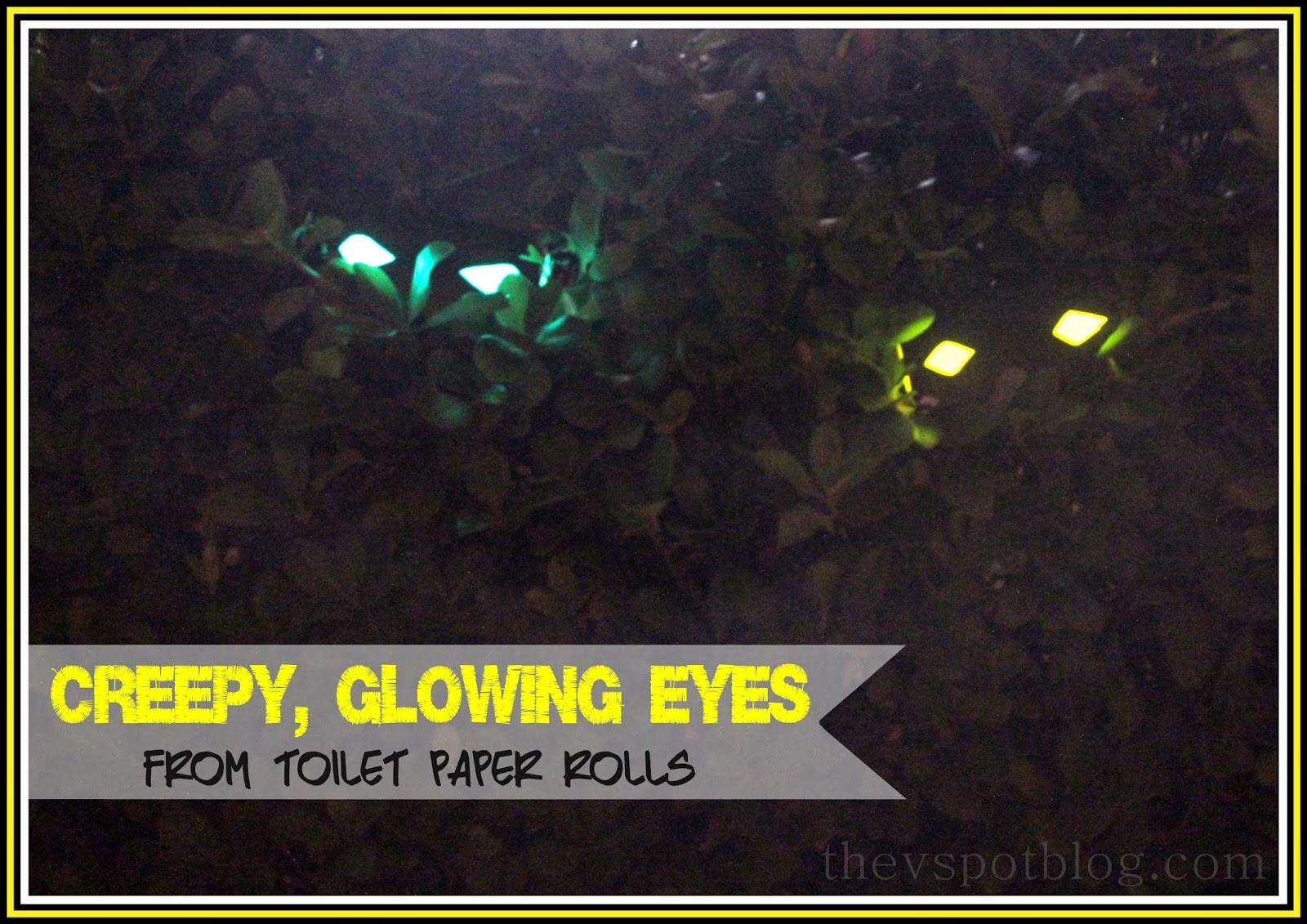 Toilet Paper Roll Halloween Eyes  Creepy glowing eyes a 5 minute Halloween decoration