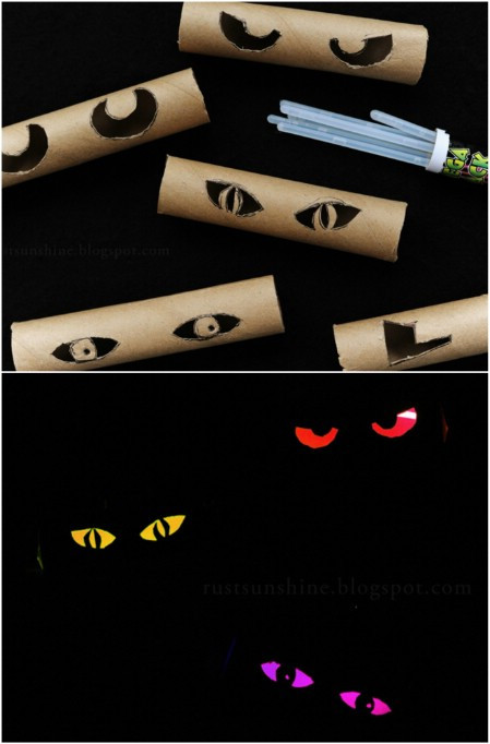 Toilet Paper Roll Halloween Eyes  DIY Scary Halloween Decorations Involvery