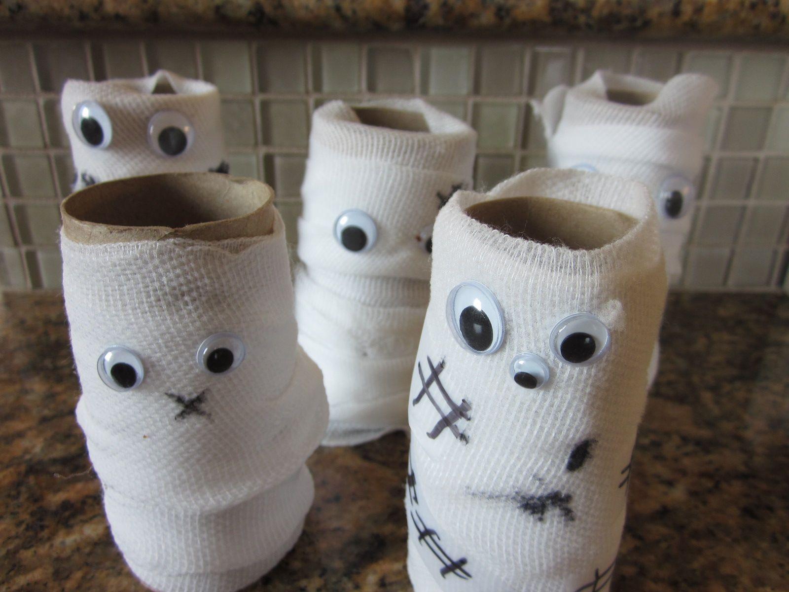 Toilet Paper Roll Halloween Eyes  Pin by Misty Gutierrez on Holiday Ideas