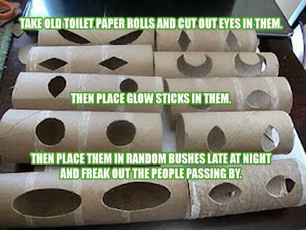 Toilet Paper Roll Halloween Eyes  Preschool Crafts for Kids Halloween Toilet roll Eyes Craft
