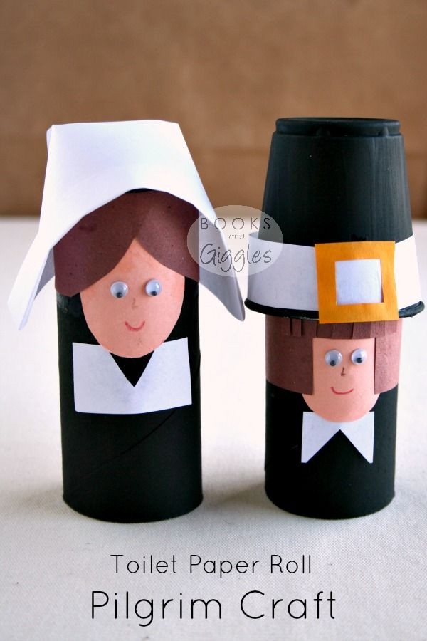 Toilet Paper Roll Thanksgiving Crafts  Simple Toilet Paper Roll Pilgrims and A Story of the First