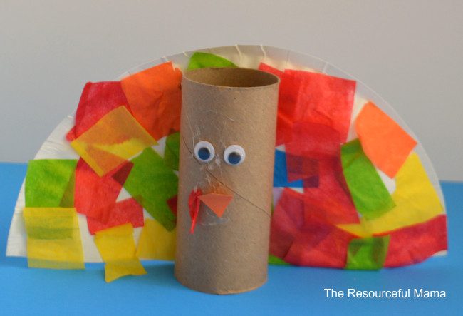 Toilet Paper Roll Thanksgiving Crafts  Toilet Paper Roll Turkey Kid Craft The Resourceful Mama