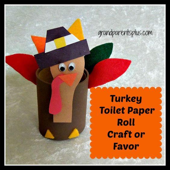Toilet Paper Roll Thanksgiving Crafts  Turkey Toilet Paper Roll Craft or Favor grandparentsplus