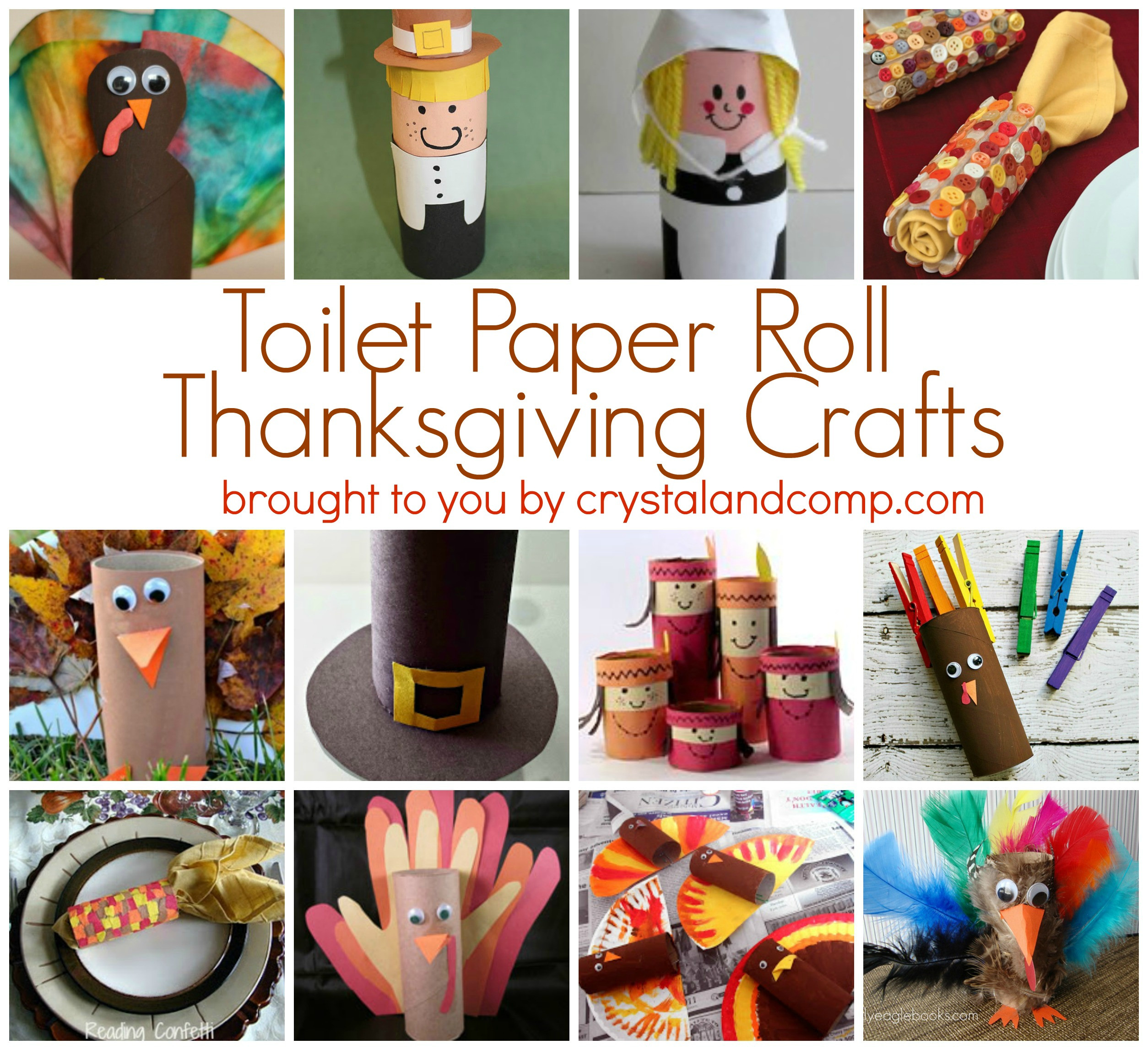 Toilet Paper Roll Thanksgiving Crafts  Toilet Paper Roll Thanksgiving Crafts