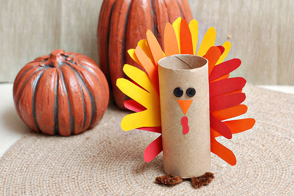 Toilet Paper Roll Thanksgiving Crafts  Gobble gobble Make a paper tube turkey craft