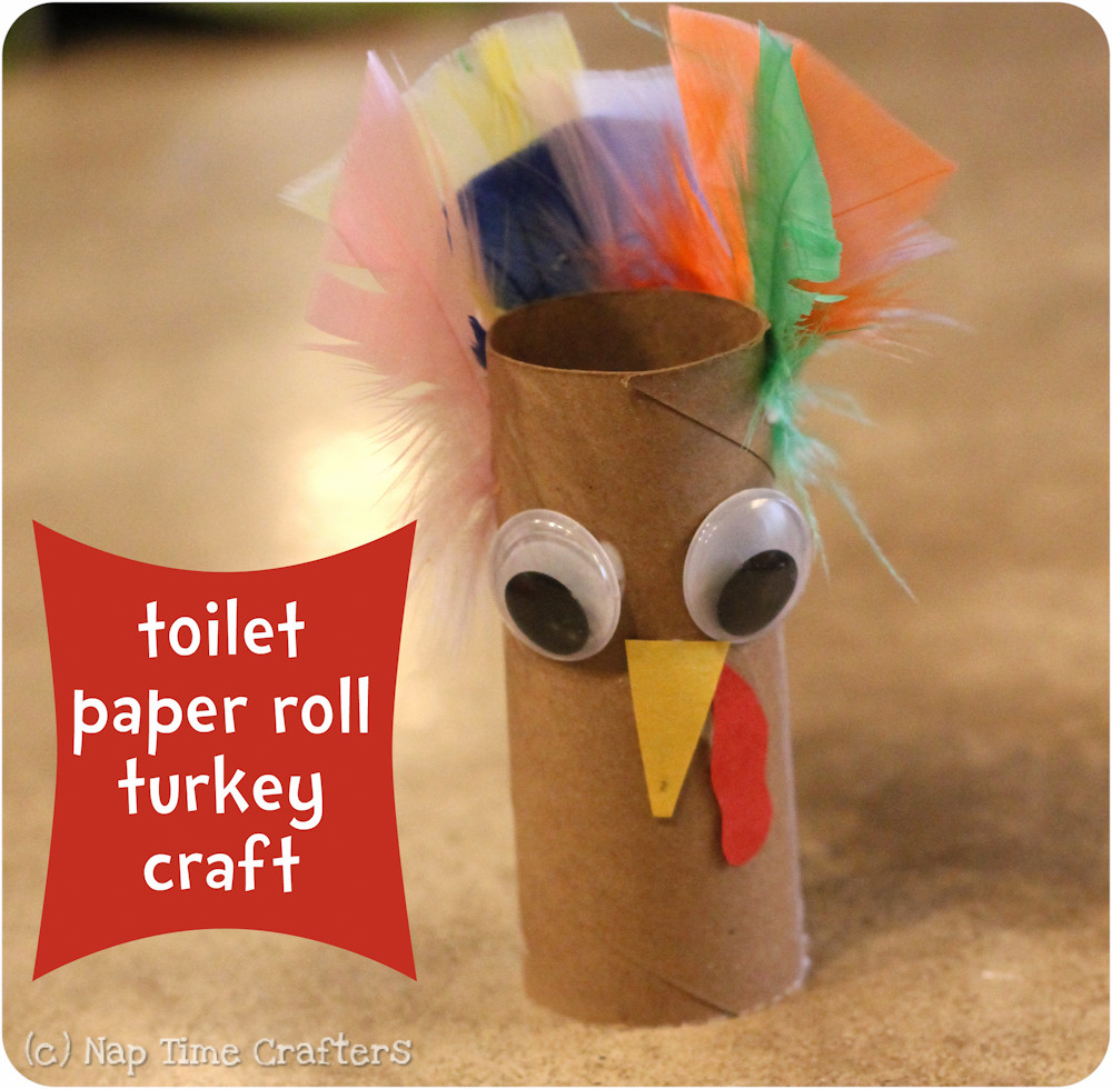 Toilet Paper Roll Thanksgiving Crafts  Easy Turkey Craft Peek a Boo Pages Patterns Fabric